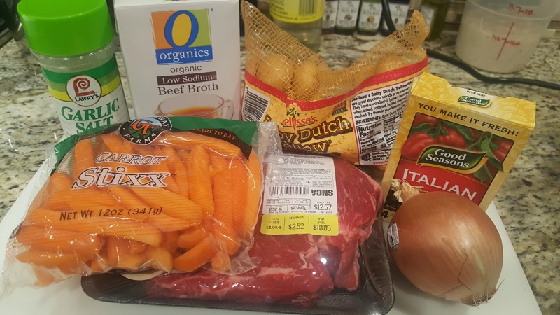 Instant Pot Simple Pot Roast Ingredients