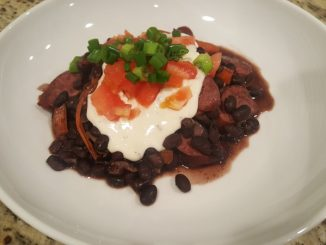 Instant Pot Black Beans and Turkey Sausage